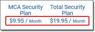 MCA Costs