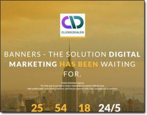 Clicks Dealer Website Screenshot