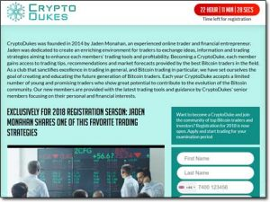 Crypto Dukes System Website Screenshot