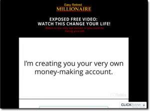 Easy Retired Millionaire Website Screenshot