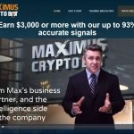 Maximus CryptoBot Website Screenshot