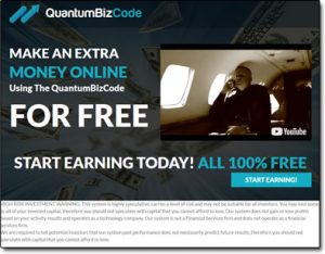 Quantum Biz Code System Website Screenshot