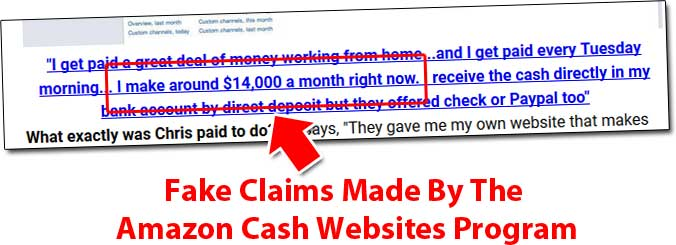 Amazon Cash Websites Fake Claims