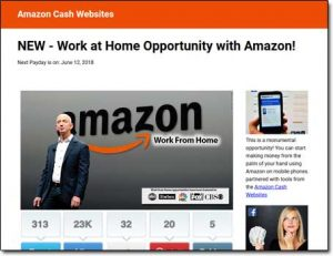 Amazon Cash Websites System Screenshot