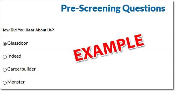 American Online Jobs Pre Screening Questions