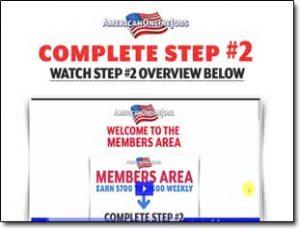 American Online Jobs Website Screenshot