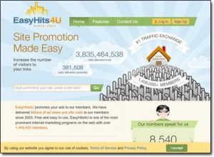 EasyHits4U Website Screenshot