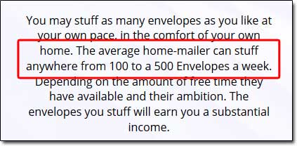 Envelope Work Job Description