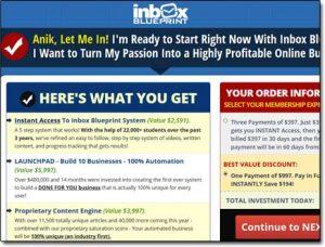 Inbox Blueprint Website Screenshot