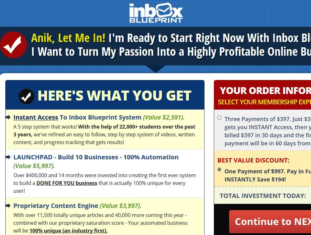 Inbox Blueprint - Scam or Legit? Review of Anik Singal's