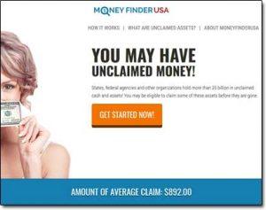 Money Finder USA Website Screenshot