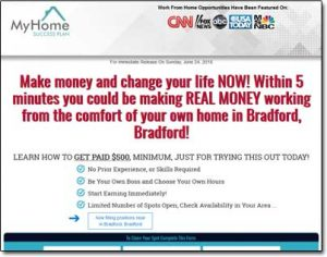 My Home Success Plan Website Screenshot
