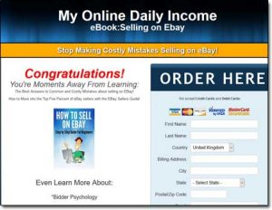 My Online Daily Income Website Screenshot