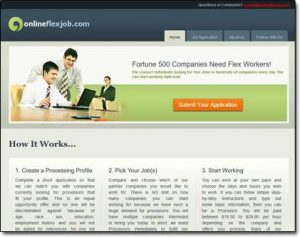 Online Flex Job Website Screenshot