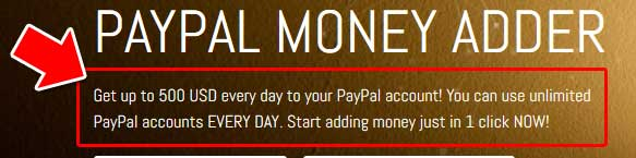 paypal money adder software promise
