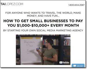 Tai Lopez's Social Media Marketing Agency Program Website Screenshot