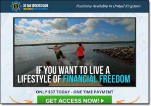 30 Day Success Club Website Screenshot