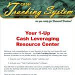 Cash Tracking System Website Screenshot