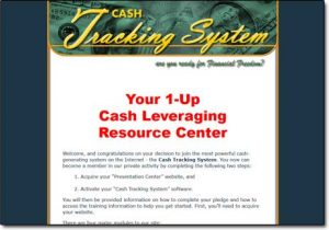 Cash Tracking System Website Screenshot