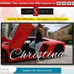 Christina's Copy And Profit System Website Screenshot