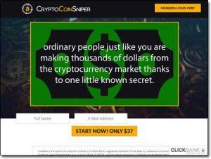 Crypto Coin Sniper System Website Screenshot