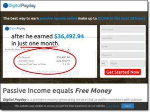 Digital Payday System Website Screenshot