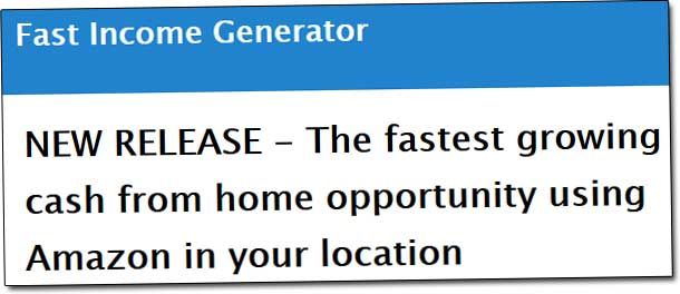 Fast Income Generator Amazon Claim