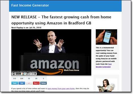 Fast Income Generator System Website Screenshot