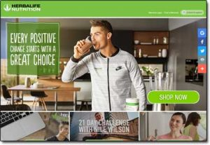 Herbalife Nutrition Website Screenshot