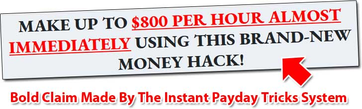 Instant Payday Tricks Income Claim