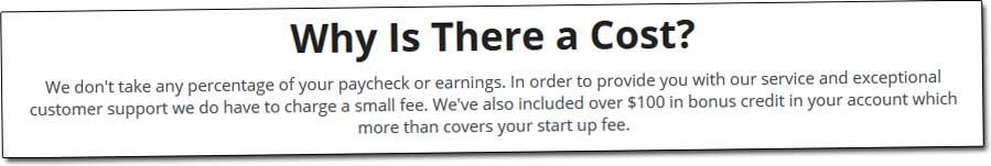 Legit Online Jobs Cost