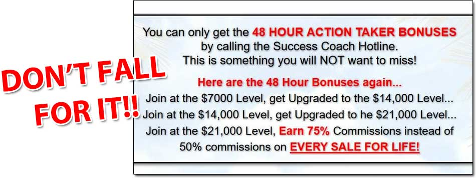 Leveraged Breakthrough System 48 Hour Action Takers Bonus
