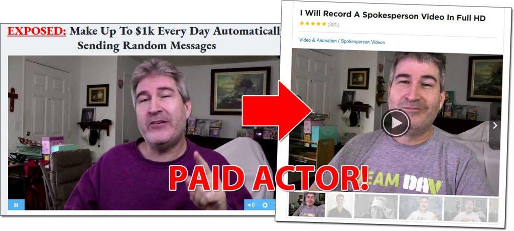 Message Money Machine Paid Actor