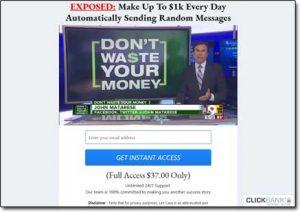 Message Money Machine Website Screenshot