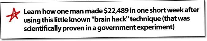 Millionaire's Brain Academy Brain Hack