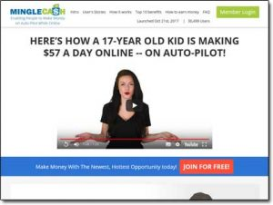 Mingle Cash Website Screenshot