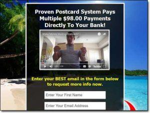 Postcards To Wealth System Website Screenshot