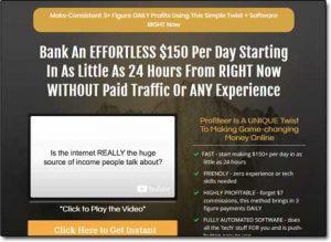 Profiteer System Website Screenshot