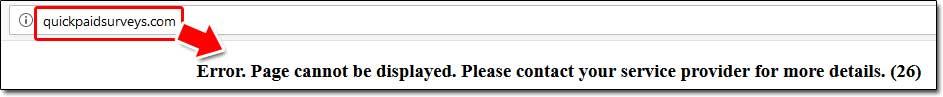 Quick Paid Surveys Website Screenshot