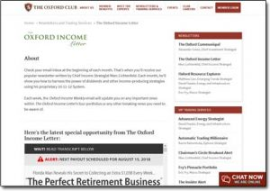 The Oxford Income Letter Website Screenshot