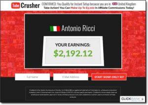 Tube Crusher System Website Screenshot