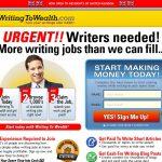 Writing To Wealth Website Screenshot