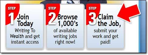 Writing To Wealth Claim Job
