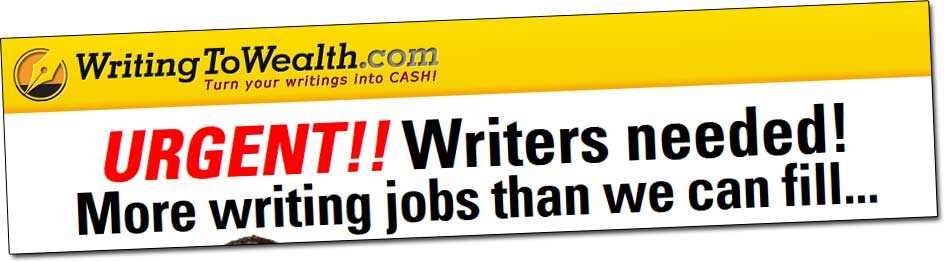 Writing To Wealth Jobs