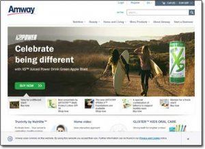 Amway Website Screenshot