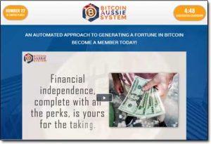 Bitcoin Aussie System Website Screenshot