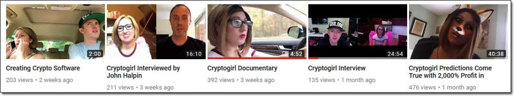 CryptoGirl YouTube Channel