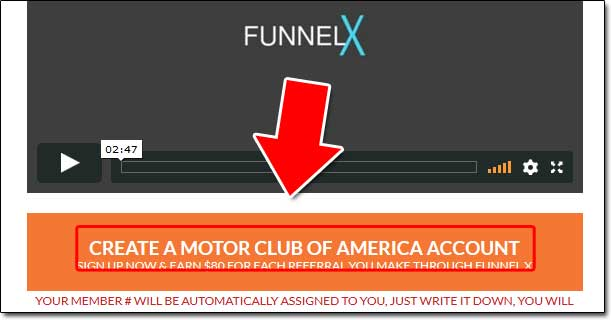 Funnel X Project Motor Club of America