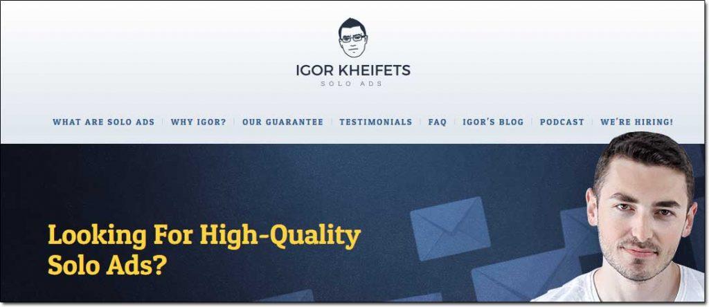 Igor Kheifets Solo Ads