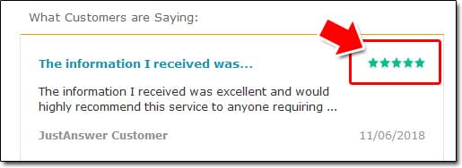 JustAnswer Customer Feedback